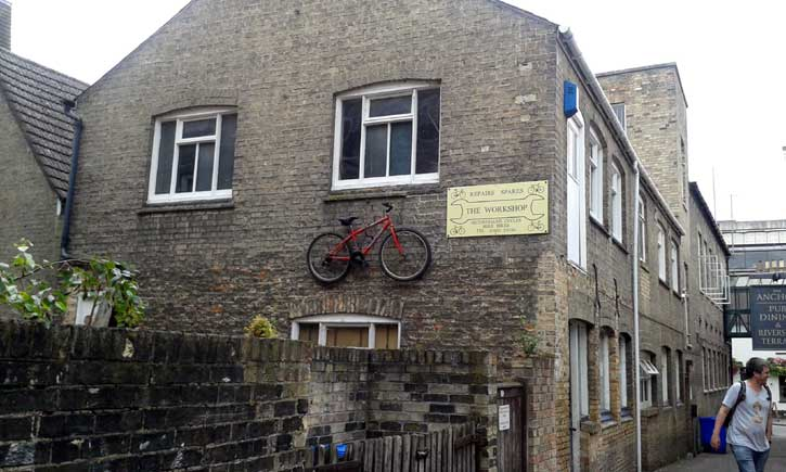cambridge en bicicleta