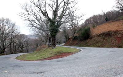 Puertos de montaña con encanto invernal (III): alto de Izpegui