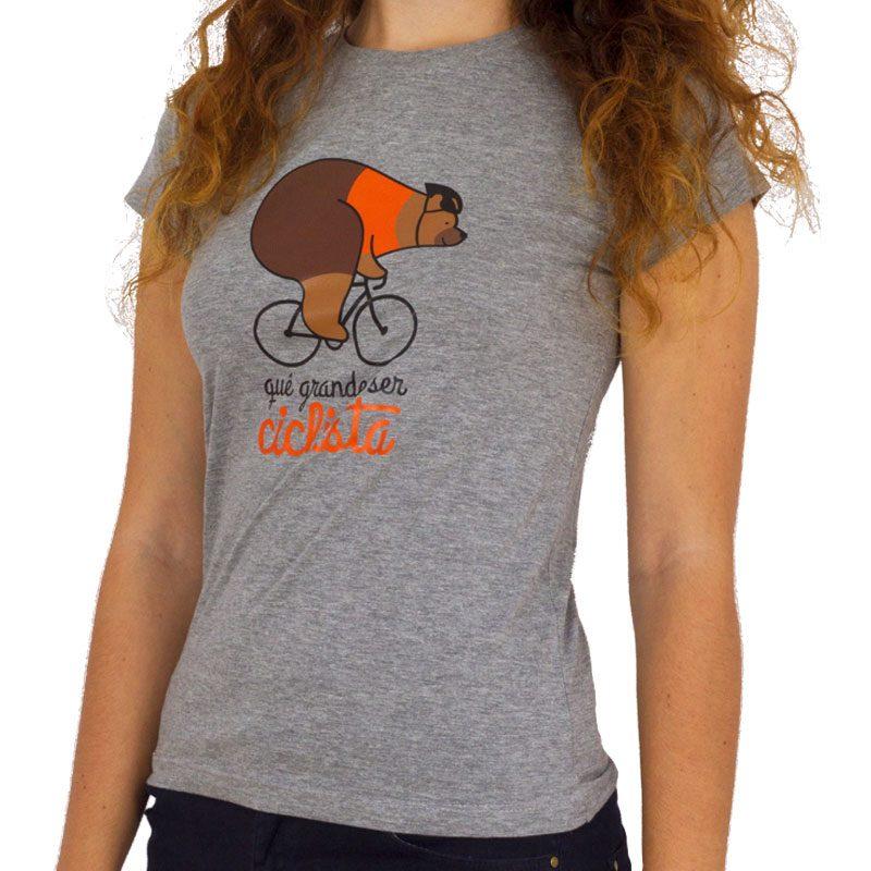 camiseta mujer qué grande ser ciclista