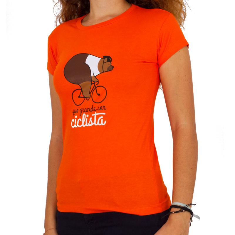 camiseta mujer que grande ser ciclista