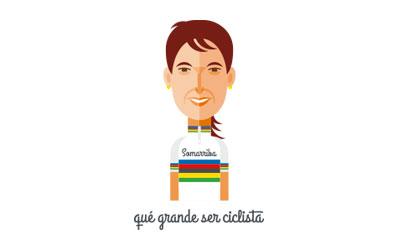 Joane, la ciclista que tocó el cielo