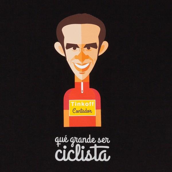 """Giro de Italia Camiseta hombre """"Alberto Contador"""""""
