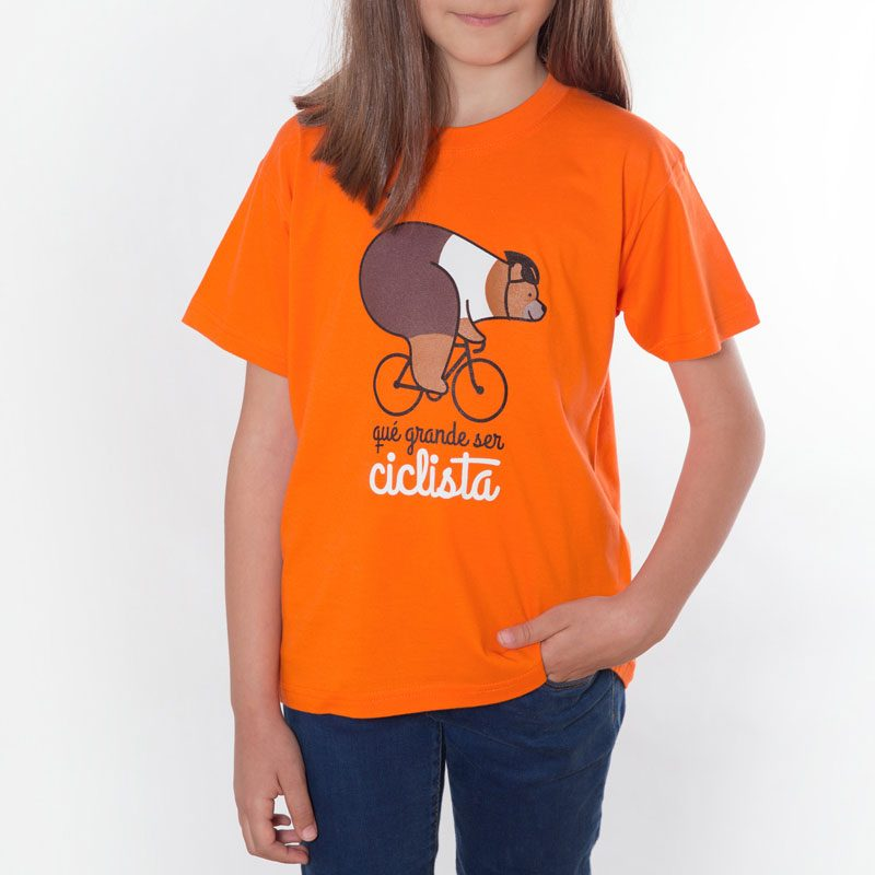 Camiseta infantil qué grande ser ciclista