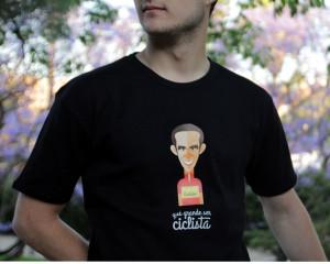 Camiseta modelo hombre Alberto Contador perteneciente a nuestra colección grandes ciclistas