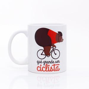 taza que grande ser ciclista