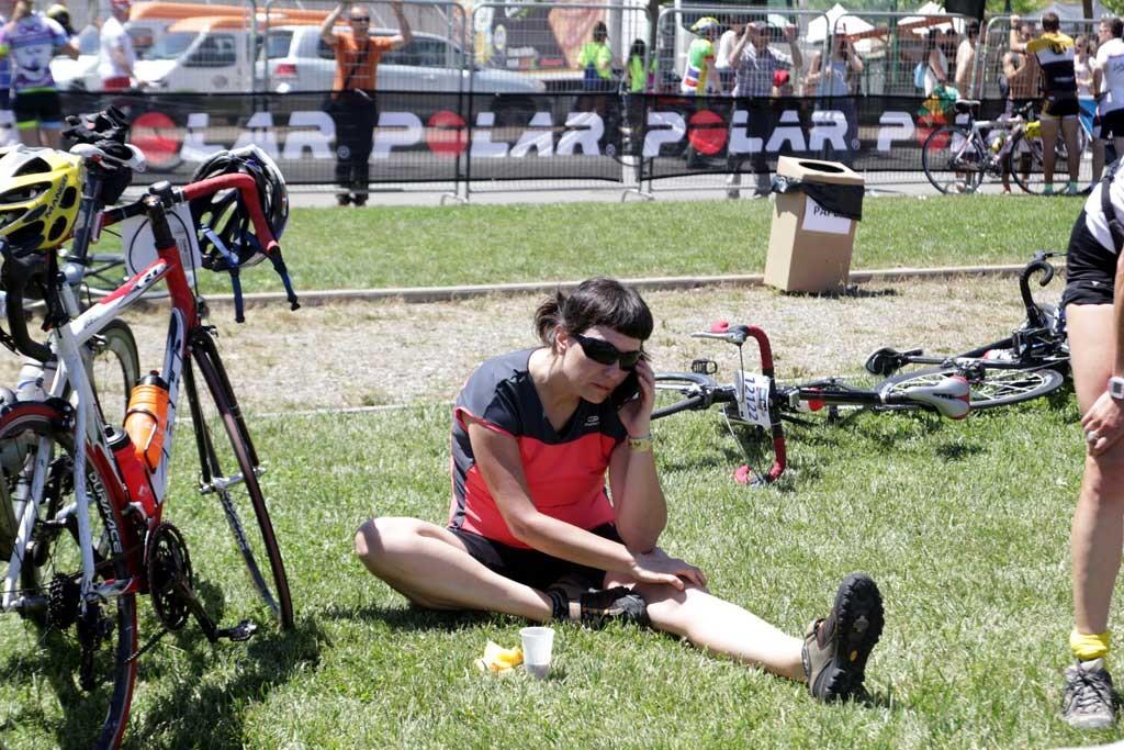 la llegada foto: qué grande ser ciclista