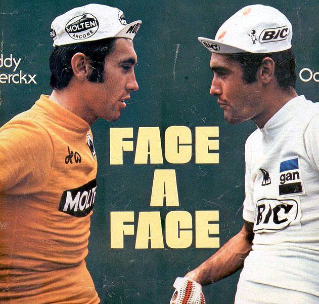 OcañaEddy Merckx y Luis Ocaña, dos mitos del ciclismo.