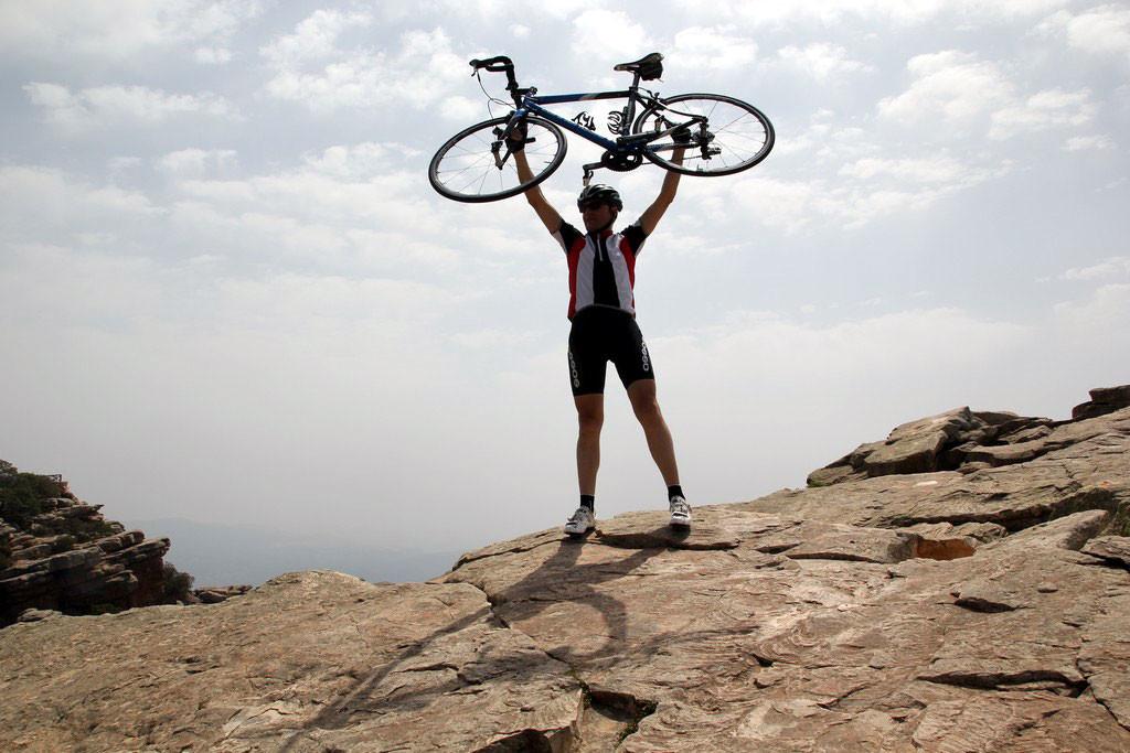 vanidad ciclista foto: qué grande ser ciclista