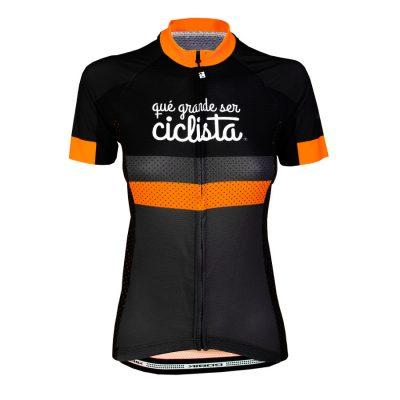 Maillot mujer qué grande ser ciclista