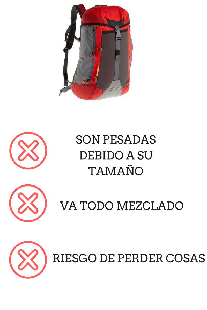 Mochilas de grandes dimensiones no son alternativa a las maletas de ciclismo
