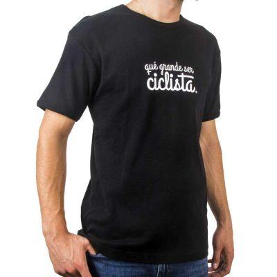 camiseta letras qué grande ser ciclista