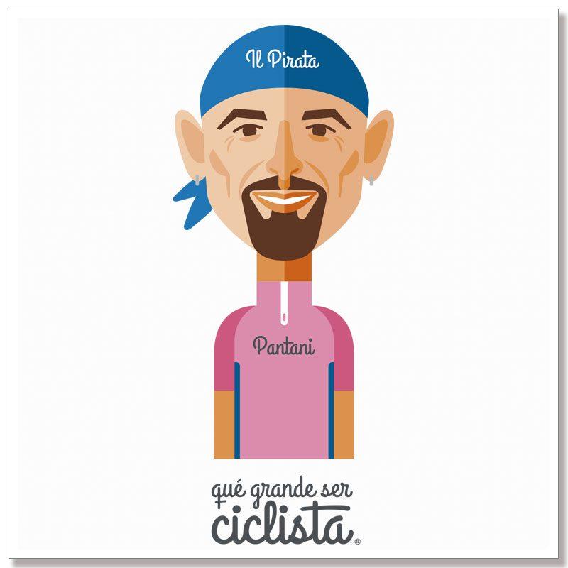 Lámina póster Marco Pantani
