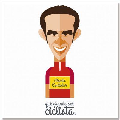 Lámina póster Alberto Contador