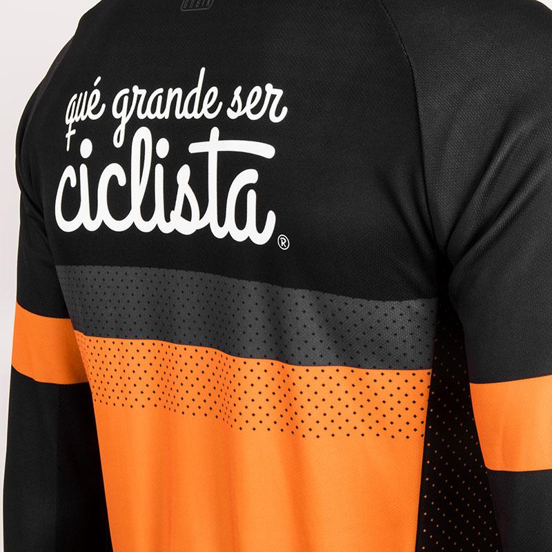 maillot manga larga qué grande ser ciclista