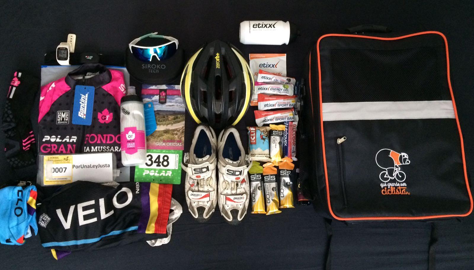 maleta ropa y accesorios de ciclismo