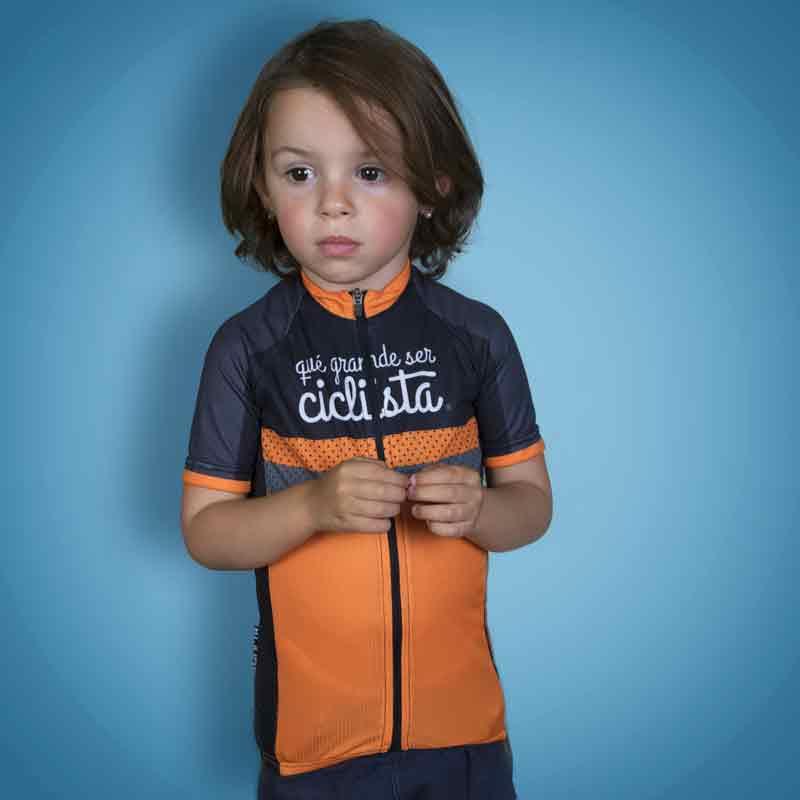 maillot infantil qué grande ser ciclista