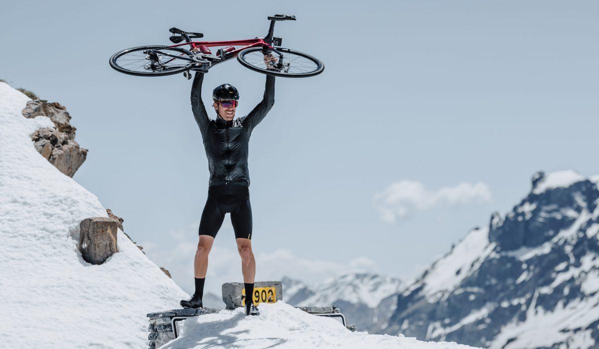 fotos ciclistas en cumbres